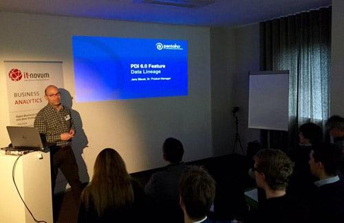Jens Bleuel von Pentaho Data Integration präsentierte Data Lineage