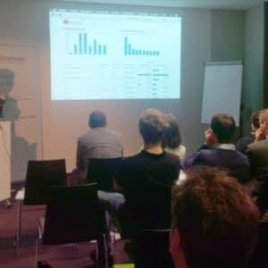 Nicolai Ernst präsentierte eine Prozessdurchlaufzeitenlösung mit Pentaho für Alfresco