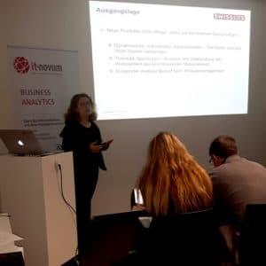 Der Vortrag von Kremena Mirtcheva-Lutsch von Swisslos auf dem Pentaho User Meeting