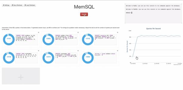 Die Antwortzeiten bei MemSQL