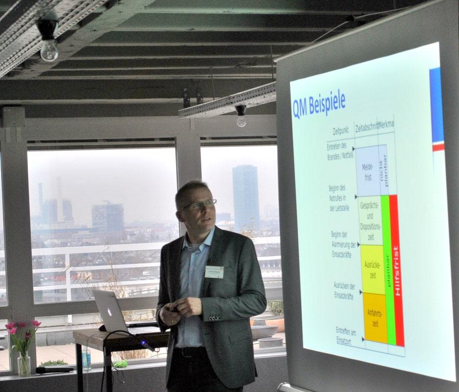 Stellte die Eurofunk-Software für Einsatzleitstellen vor: Christian Ripaski