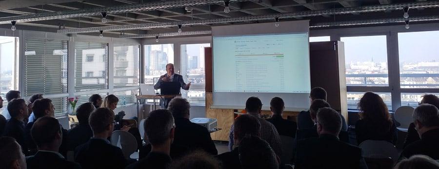 Mit Blick auf die Skyline Frankfurts eröffnete Matt Casters das Pentaho User Meeting mit einem Vortrag zu PDI, Webspoon und Realtime Data Streaming