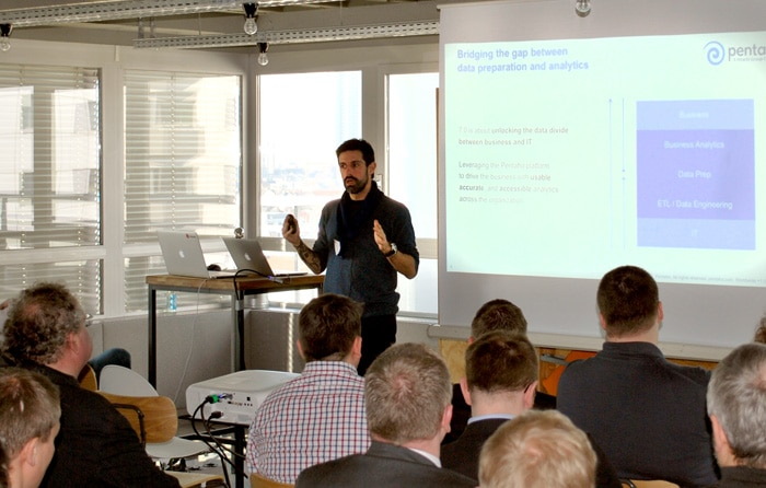 Pedro during his talk at Pentaho User Meeting 2017 in Frankfurt