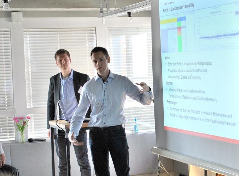 Werner Fragner (right) at German Pentaho User Meeting 2017