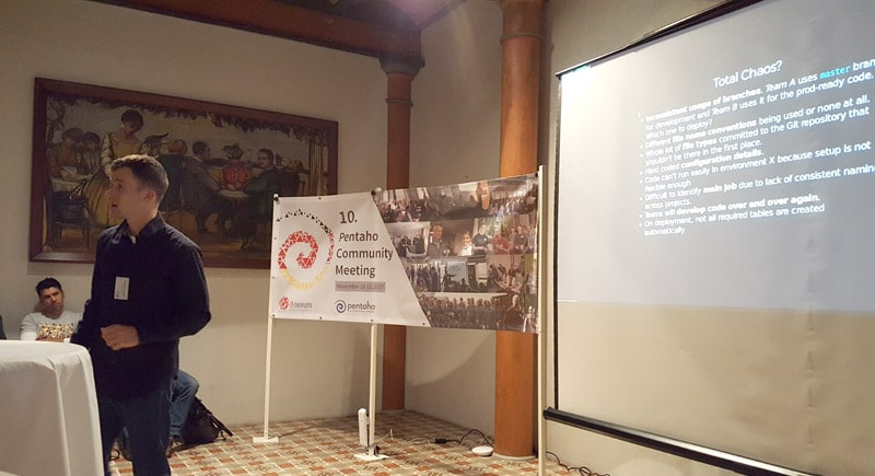 """Standards are key"": Diethard Steiner at Pentaho Community Meeting 2017"