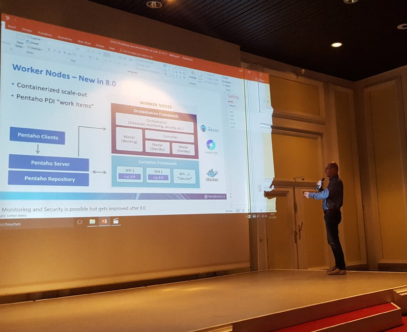 Jens presented worker nodes in Pentaho 8.0