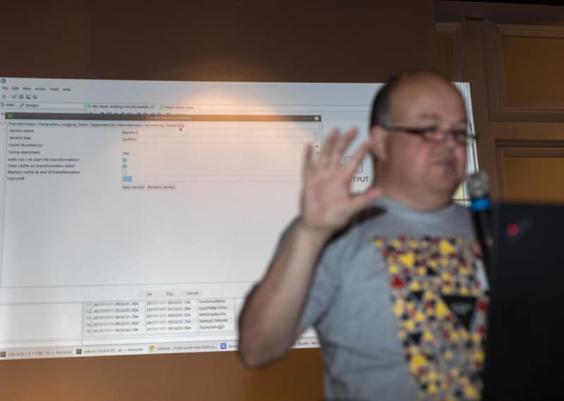 Chief brewer Matt Casters with something spacy for Pentaho Data Integration