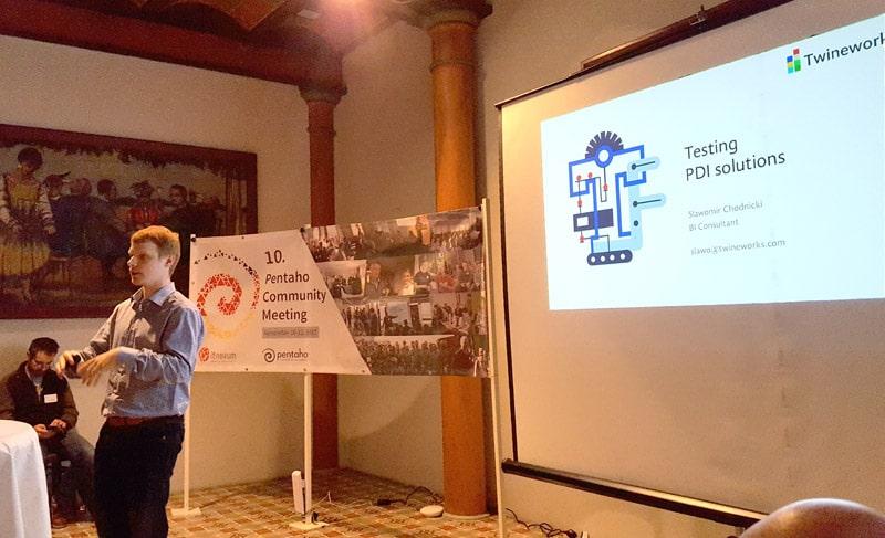 Introduced testing PDI solutions: Slawomir Chodnicki at Pentaho Community Meeting 2017