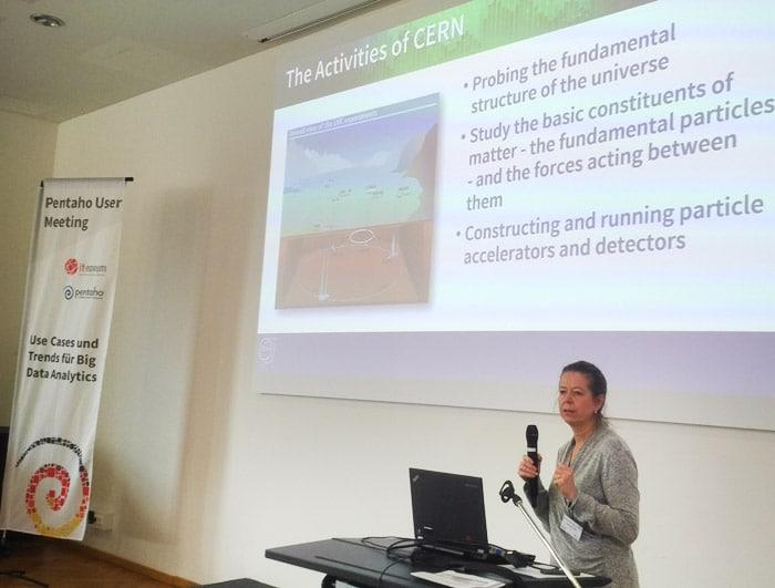 Gabriele Thiede stellte das Reporting-Migrationsprojekt beim CERN vor