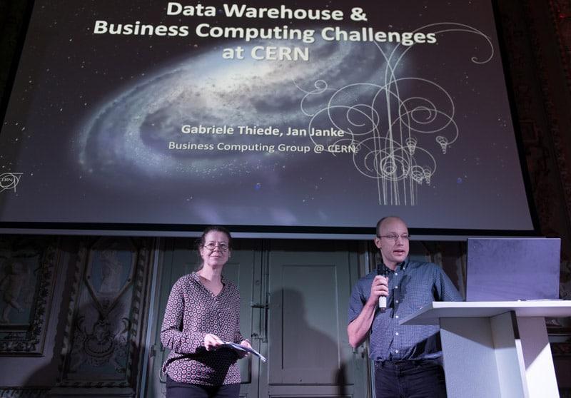 Gabriele Thiede und Jan Janke, CERN