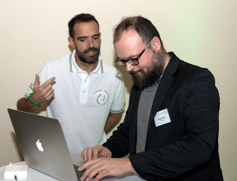 Virgilio Pierini and Giorgio Grillini